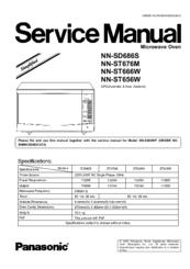 Panasonic Nn St656w Manuals