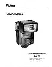 vivitar 283 service manual pdf download rh manualslib com Vivitar Adapters Vivitar Camera Accessories