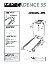 Manuals And User Guides For Weslo Cadence 55 We Have 10 Available Free PDF Download Manual Del Usuario