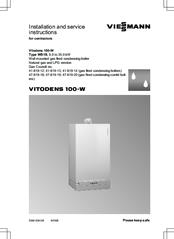 Viessmann Vitodens 100 W Manuals