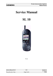 Siemens SL10 Service Manual