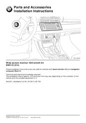 bmw x5 wide screen monitor 16 9 retrofit kit manuals rh manualslib com BMW Van bmw hud retrofit manual