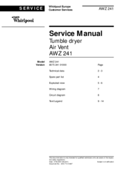 Whirlpool AWZ 241 Service Manual