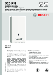 Bosch 520-PN-N Operation Manual