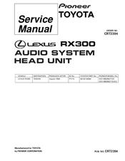 Pioneer Lexus RX300 Manuals