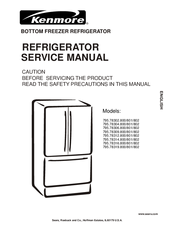 kenmore 795 78302 800 service manual pdf download rh manualslib com Kenmore Refrigerator Troubleshooting service manual for kenmore elite refrigerator