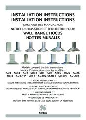 sirius range hoods su3 manuals rh manualslib com ikea range hood installation instructions broan range hood installation instructions