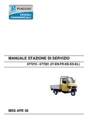 piaggio mss ape 50 service station manual pdf download rh manualslib com 3 Wheel Piaggio Ape Camper Electric Trike