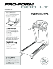 proform 680 lt treadmill manuals rh manualslib com proform pro 1000 manual proform manuals free