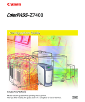 Canon ColorPass-Z7400 Configuration Manual