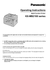 PANASONIC KX-MB271 MULTI-FUNCTION STATION DEVICE MONITOR DRIVERS DOWNLOAD