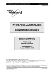 whirlpool awm8121 manuals rh manualslib com Whirlpool Dryer Manual Whirlpool Tub Manual