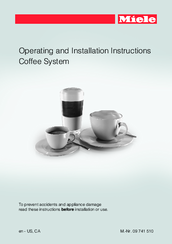 Miele 09 741 510 Operating And Installation Instructions