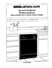 Jenn Air Dw860 Manuals