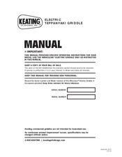 keating of chicago teppanyaki griddle manuals rh manualslib com Chicago Manual Bibliography Chicago Manual Style Paper