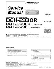 pioneer deh 2300r manuals Pioneer Deh2400ub Wiring Diagram pioneer deh 2300r service manual pioneer deh 2200ub wiring diagram