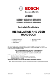 Bosch BSS250-26-2 Installation And User Manual