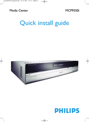 Philips Showline MCP9350I Quick Install Manual