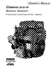 kohler command 20 25 hp owner s manual pdf download