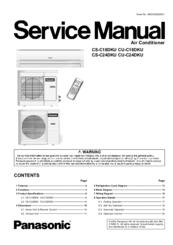 Panasonic CSC24DKU AIR CONDITIONER SPLIT Manuals