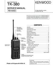 kenwood tk 380 manuals rh manualslib com uniden walkie talkie manual pdf retevis walkie talkie manual