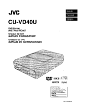 JVC CU-VD40U Instructions Manual