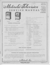Motorola 17K1BE Service Manual