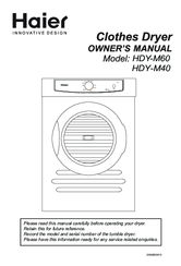 Haier HDY-M40 Owner's Manual