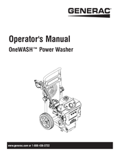 Generac Power Systems OneWASH Operator's Manual