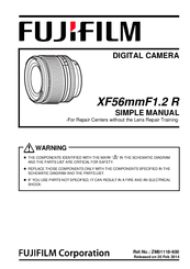 Fujifilm XF56mmF1 2 R Manuals