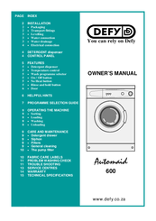 defy automaid 600 electronic manuals rh manualslib com defy automaid user manual Instruction Manual