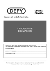 Defy ddw173 manuals defy ddw173 manual asfbconference2016 Choice Image