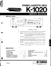 Yamaha K-1020 Service Manual