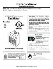 Heatilator Wood Burning Fireplace EL42 Series Manuals