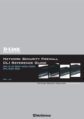 D-Link NetDefend DFL-860 Cli Reference Manual