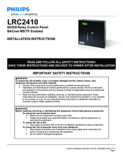 Philips LRC2410 Installation Instructions Manual