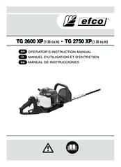 EFCO TG 2600 XP OPERATOR'S INSTRUCTION MANUAL Pdf Download
