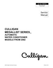Culligan Medallist Series Service Manual Pdf Download