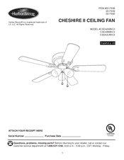 Harbor breeze csd42lw5c3 manuals harbor breeze csd42lw5c3 user manual 40 pages cheshire ii ceiling fan aloadofball Choice Image