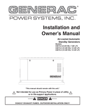 Generac Power Systems 04673-2 Installation And Owner's Manual