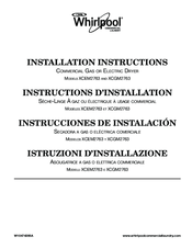 Whirlpool XCEM2763 Installation Instructions Manual