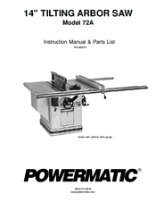 POWERMATIC 72A INSTRUCTION MANUAL & PARTS LIST Pdf Download