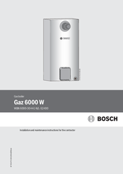 Bosch WBN 6000-30-H-E-N/L-S2400 Installation And Maintenance Instructions Manual