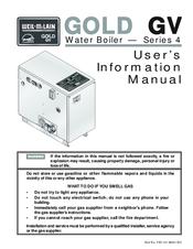 Weil-mclain Gold GV Series 4 Manuals