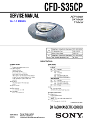 sony CFD-S35CP Service Manual