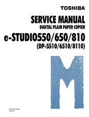 toshiba e-STUDIO 550 Service Manual