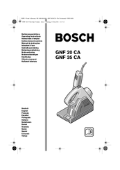 Bosch GNF 20 CA Operating Instructions Manual