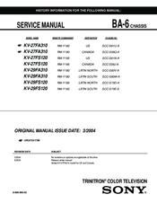 sony wega kv 27fs120 manuals rh manualslib com Sony KV-27FS120 Manual Sony KV-27FS120 Manual