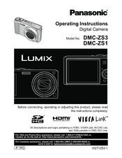 panasonic dmc zs3 lumix 10mp digital camera manuals rh manualslib com panasonic dmc-zs3 manuel d'utilisation lumix dmc zs5 manual