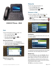List of Synonyms and Antonyms of the Word: Cisco 8945 Manual